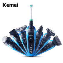 Keimei Multi Waterproof IPX4 Electric Shaver Triple Blade 7 in 1 Electric Shaving Razors Men Face Care 3D Men Shaver 220V(China)