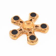 Buy Tri-Spinner Fidget Toys EDC Hand Spinner Metal Fidget Spinner Autism ADHD Adults Children Educational Kids Toys Hobbies for $7.14 in AliExpress store