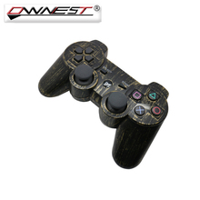 Ownest New Bronze Color Dual Vibration Joystick For Sony PS3 Wireless Bluetooth Game Controller For Playstation 3(China)