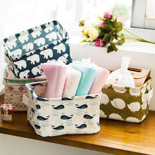 storage basket Foldable 5 Colors Storage Bin Closet Toy Box Container Organizer Fabric Basket Organizers Housekeeping(China)