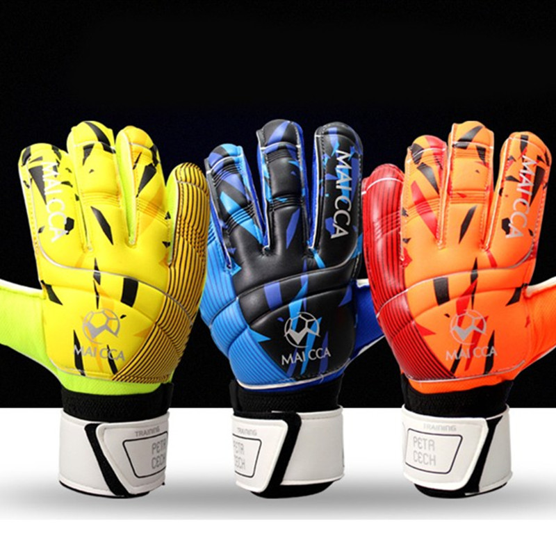 MAICCA New latex Soccer goalkeeper glvoes Men and women finger protector Professional Football goalie gloves adult training(China)