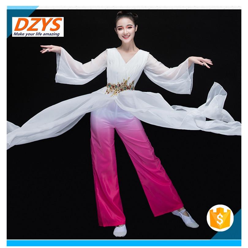 Women\`s new elegant modern dance costume sleeves dance dress06