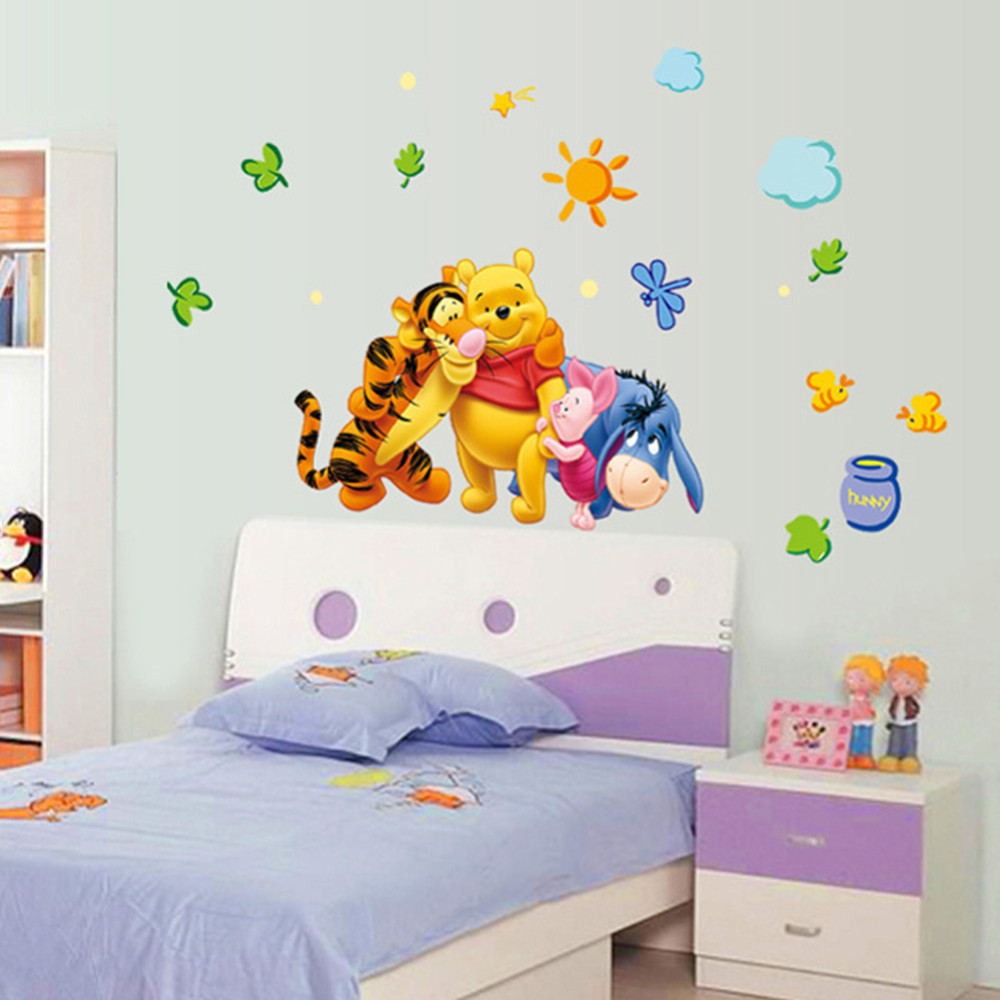 HTB1OWEqbcbI8KJjy1zdq6ze1VXao - New Arrival  The Pooh Cartoon Wall Stickers For Kids Rooms