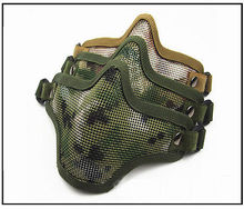 Airsoft Mask Metal Mesh Half Face Protection Hunting Paintball Tactical Strike Masks