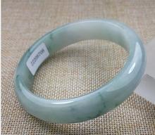 Certified Grade A 100 Natural Blue Flower Jadeite Bracelet Jade Bangle 58 5mm