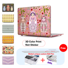 Russian Matryoshka Dolls laptop Case For Apple macbook Air Pro with Retina 11 12 13 15 inch laptop bag For Mac book 11.6 13.3 15