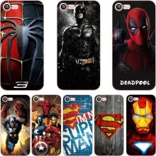 ciciber phone cases DC Batman Superman Deadpool Marvel Iron Man TPU soft silicone cover Case for iphone 6 6S 7 8 plus 5S SE X(China)