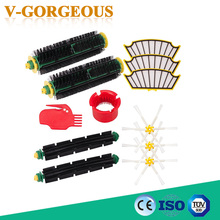 Side Brush + Filter Kit Vacuum Cleaner Parts For Irobot Roomba 500 527 528 530 532 535 540 562 570 572 580 581 590 Replacement(China)