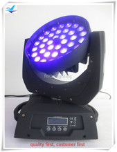 (6/lot)Dj equipment sale led moving wash light 36x18w rgbwa uv 6in1 zoom led moving head wash