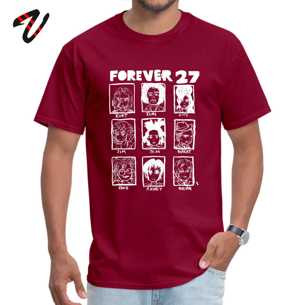 ForeverClub Geek Short Sleeve Tops Tees Autumn Round Neck All Cotton Men T Shirt Geek Clothing Shirt Oversized Forever 27 Club 736 maroon