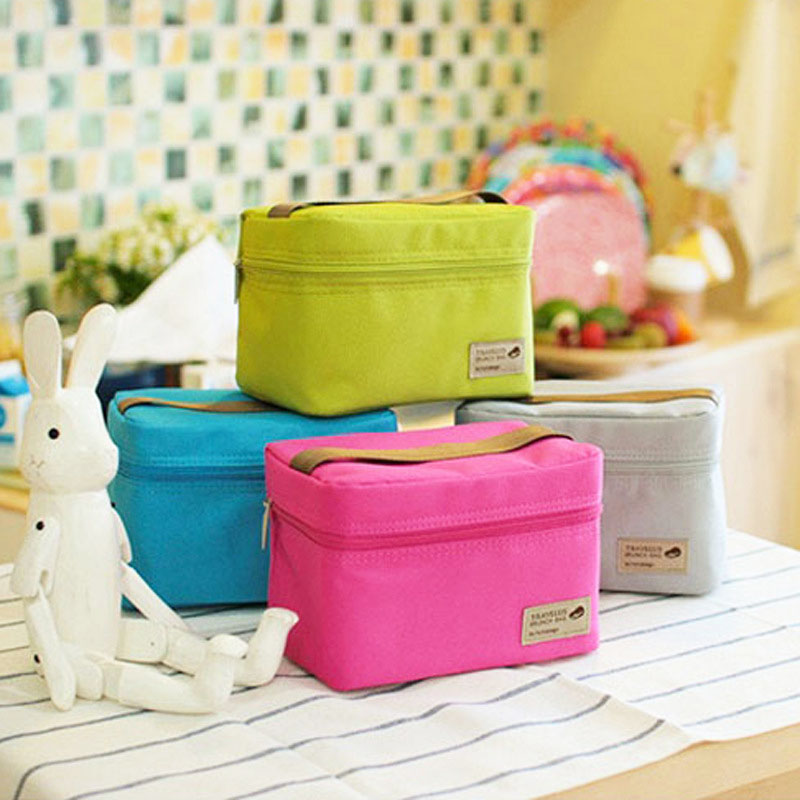 Hot Insulated Convenient Thermal Waterproof Kids Lunch Bento Box Picnic Storage Bag 4 Colors(China (Mainland))