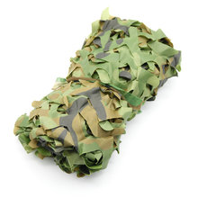 Hunting Camping Camo Net 2X3m Woodland Leaves Camouflage Net Jungle Leaves Camo Net For Military Car Shade Cloths Cover(China)