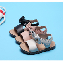 baby girl leather sandals bow-knot ankle sling back summer toddler shoes infant footwear comfortable little shoe pink white