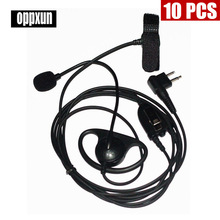 10PCS Shape Earpiece Headset  Finger PTT Boom Mic for 2-pin Motorola GP2000, GP2100, GP300, GP308, GP68, GP88, GP88S, GP350 etc.