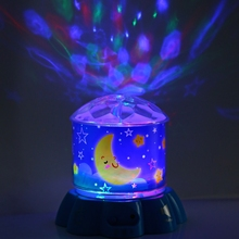 New LED Colorful Light Star Projector LED Rotating Musical Night Light Touch Sensor Bedside Lamp Kids Chirdren Lighting Lumiere