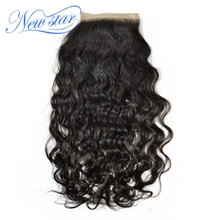 New Star Natural Wave 4X4 Swiss Lace Closure Free Part Bleached Knots Virgin Human Hair Natural Color Shipping Free