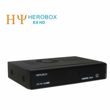 [Genuine]Linux Enigma2 Set top box HEROBOX EX HD with DVB-S2 tuner support CCCAM line and USb wifi satellite receiver set top bo