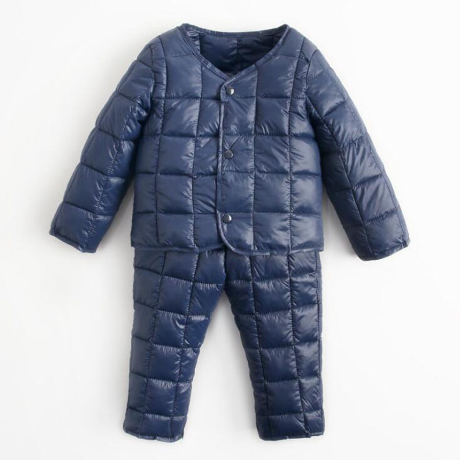 Baby Girl Boy Costume Suit Winter 2 Jacket Childrens Down Jacket + Pants Cotton Padded Warm Clothes Winter Childrens Clothing<br>