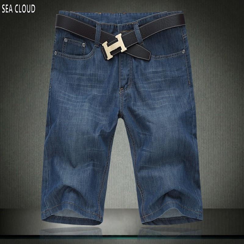 Sea Cloud Free shipping plus size summer mens shorts male denim hiphop shorts elastic mens summer shorts short jeans size 52Îäåæäà è àêñåññóàðû<br><br>