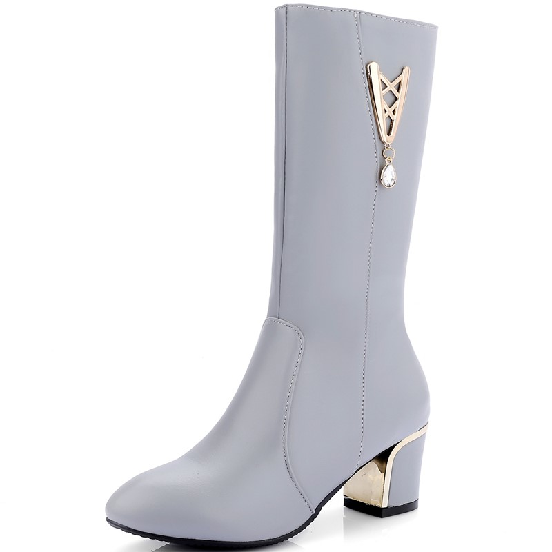 Spring/Autumn Winter Boots Shoes Woman High Quality Sexy Women Spike Heels Boots zip Knee Boot High Heel Knight Boots<br>