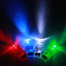 LED Finger Light Glowing Dazzle Colour Laser Emitting Finger Ring Beams Ring Torch Wedding Party Christmas Celebration JK872758