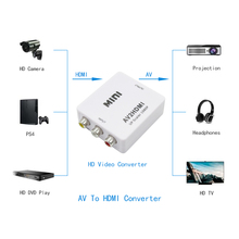 1080P HDMI Interface HDMI TO RCA HDMI TO AV 1080P AV2HDMI Mini AV TO HDMI Converter Signal Mini HD Video Converter Box for TV