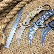 Newest Fox A30 Karambit Folding Knife,440SS Tactical Pocket Knife,Outdoor Folding Blade Knives,EDC Survival Folder Knives Tools(China)