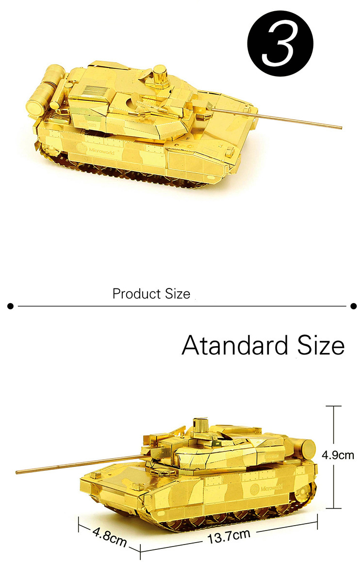 Leclerc Main Battle Tank Fun 3d Metal Diy Miniature Model Kits Best268 Circuit Board Maintenance Clipon Magnifying Glass Alex Nld Puzzle Toys Children Boy Splicing Hobby Building Us295