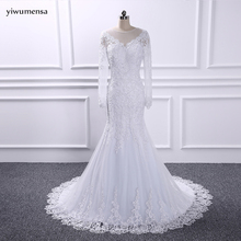 Buy yiwumensa vestido de noiva manga longa Sexy Mermaid Bride Dresses Gorgeous Lace Long Sleeve Wedding Dress Vestidos de Casamento for $151.32 in AliExpress store