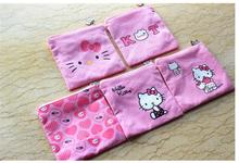 Hello Kitty Cotton Zipper Travel Small Bow Zipper Storage Bag 6 Color Option