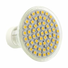 GU10 fittings Warm White 3528 SMD 60 LED Office Home Hotel Bars Spotlight Light 5W 3500K Bright AC 220V