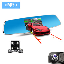 dual lens car camera cars dvr rearview mirror auto dvrs recorder video registrator full hd1080p night vision dash cam camcorder
