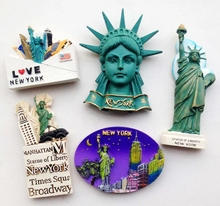 Statue Of Liberty New York USA Tourism Souvenir 3D Fridge Magnets Creative Home Decortion Refrigerator Magnetic Stickers Gift(China)