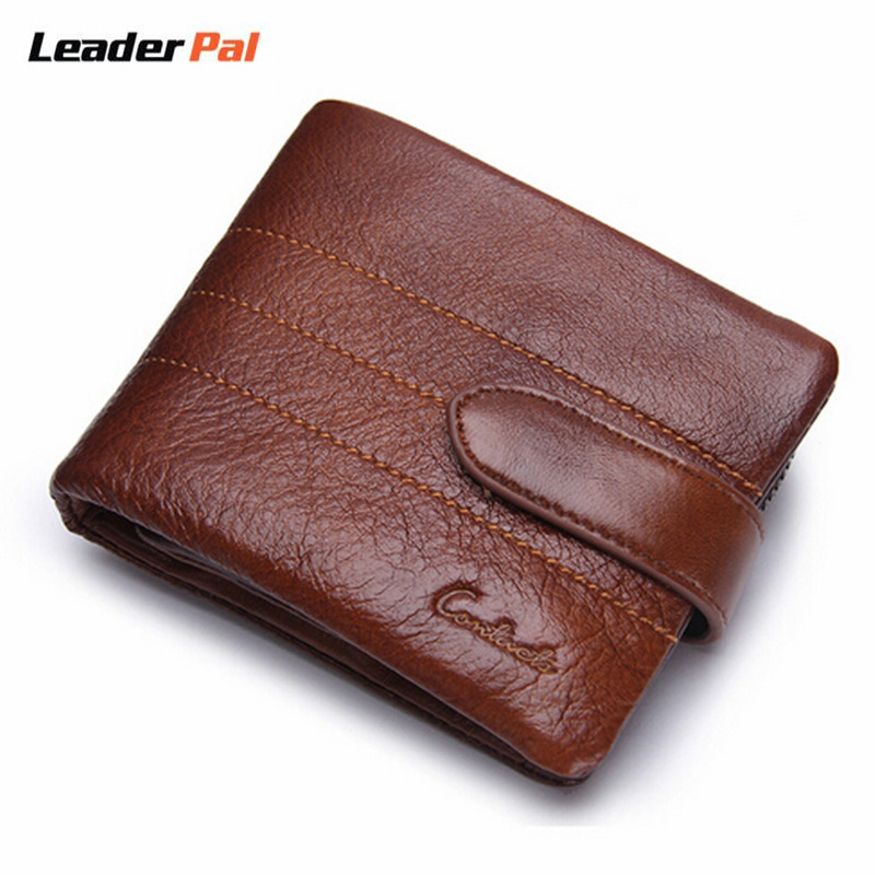 Men Wallets Genuine Leather Small Wallet Hasp Design Men Wallets with Coin Pocket Purse Fashion Luxury Card Holder for Men N1103<br><br>Aliexpress