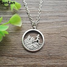 10pcs runner boy charm mountains running pendant trail running outdoors nature hiking comping jewelry SanLan