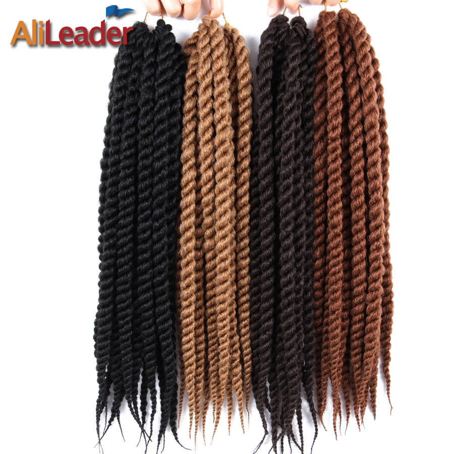 AliLeader Hair Extension 12 18 22 Inch Crochet Braids Burgundy Black Blonde Silver Havana Jumbo Twist Synthetic Braiding Hair(China)