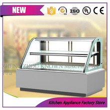 2 Layer white Bakery Cake Display Refrigerator/Refrigerated Cake Display Case Chiller and Cooler/Cake Bread Cabinet Freezer(China)
