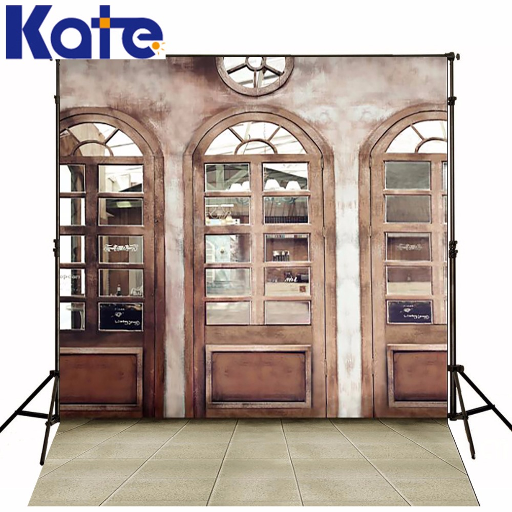 KATE Photography Backdrop Vintage Indoor Wedding Background Window Backdrop Brick Floor Backdrops Children Background for Studio<br>