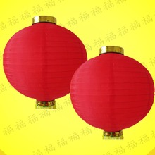 2Pcs/lot Diameter 20cm Round Red Silk Lanterns Wedding Birthday Event Party Decorations Supply Lamp Chinese New Year Lantern(China)