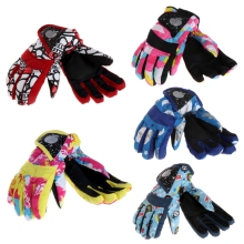 1Pair Skis Gloves Winter Kids Children Windproof Waterproof Snowboard Riding Accessory(China)