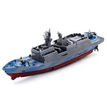 Remote Control Challenger RC Boat Warship Battleship Product size: 15.5 * 5.3 * 5.3CM Y7811(China)