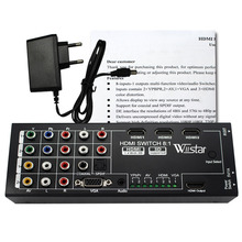 Wiistar Multi-functional HDMI Converter Switch 8 Input to HDMI+COAXIAL+SPDIF Output Support 3D and Surround Sound for 1080P