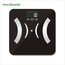 ALLiSHOP bathroom scales smart digital electronic scal with Weight Measuring, BMI, body fat, body water and muscle and bone mass