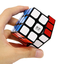 QIYI Professional 3x3x3 5.7CM Speed For Magic Cube Puzzle Fidget Cube Neo Cubo Magico Sticker For Children Adult Education Toy(China)