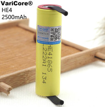 2 pcs. New VariCore HE4 18650 lithium-ion battery 3.7 V 2500 mAh for LG  battery Electronic special 20A  30A discharge +welding