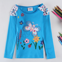 2016 New Children T shirts for Girls Clothes Flower butterfly Infantis Brand Kids T-shirts Baby Girl T shirt
