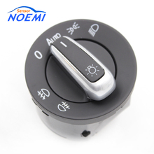 YAOPEI 5ND 941 431B New Chrome Headlight Windows Mirror Switch Button 5ND941431B For VW Passat B6 Jetta Golf MK5(China)