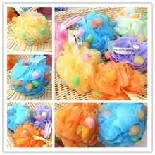 1750-King size particle shower flower sponge bath color bath ball(China)