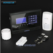 HOMSECUR LCD Wireless/ Wired GSM Autodial Home Office Security Alarm System(China)