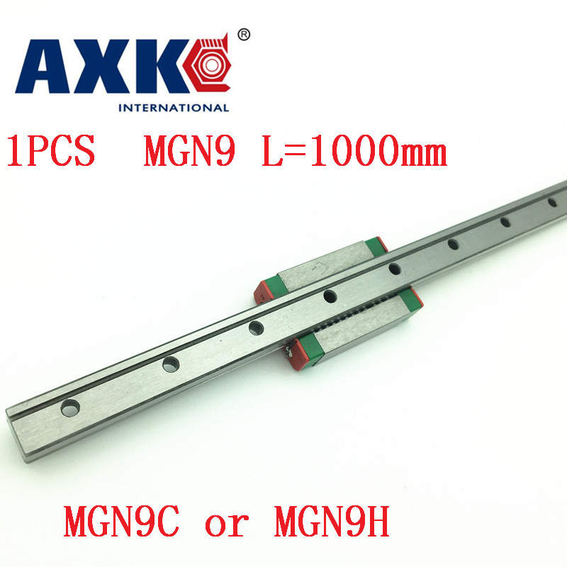 9mm Linear Guide Mgn9 L=1000mm Linear Rail Way + Mgn9c Or Mgn9h Long Linear Carriage For Cnc X Y Z Axis<br>
